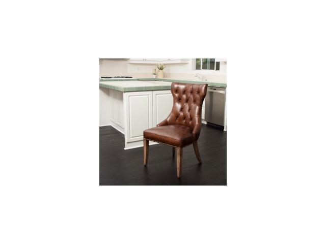 Wharton Top Grain Leather Dining Chair Single