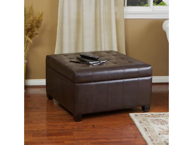 Awe Inspiring Christopher Knight Home Alexandria Leather Storage Ottoman Cjindustries Chair Design For Home Cjindustriesco