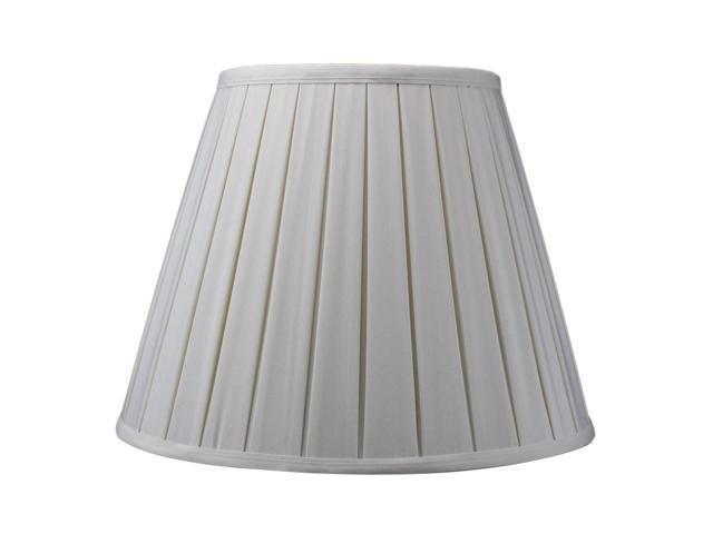 Eggshell Empire Box Pleat Lamp Shade Shantung Fabric 8x14x11