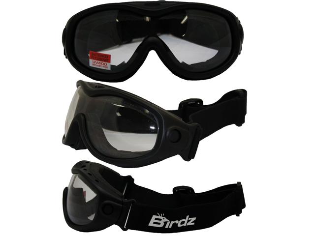 dd358f39de8 Birdz Heron Matte Black Riding Goggles with Clear Lenses - Newegg ...