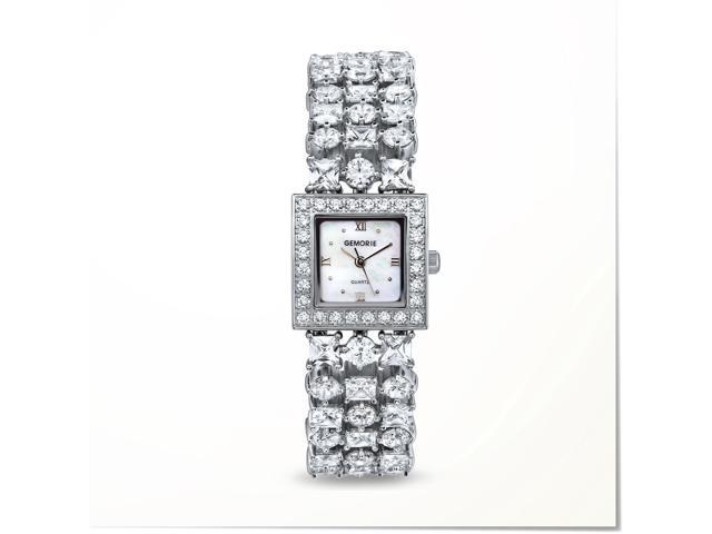 Gemorie ''The Isabella'' - Jewelry Watch with Zirconia in Silver Plating  (129061) - Newegg com
