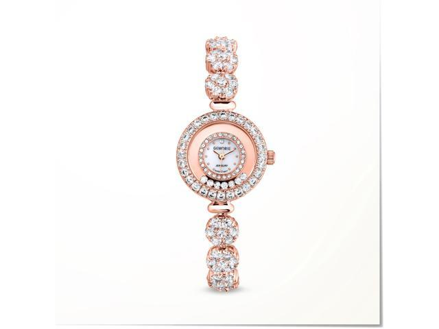 Gemorie ''The Carina'' - Jewelry Watch with Zirconia in 18k Rose Gold  Plating (129058-RG) - Newegg com