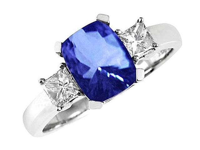 FANCY 3 CT OVAL TANZANITE BLUE 925 STERLING SILVER RING SIZE 5-10
