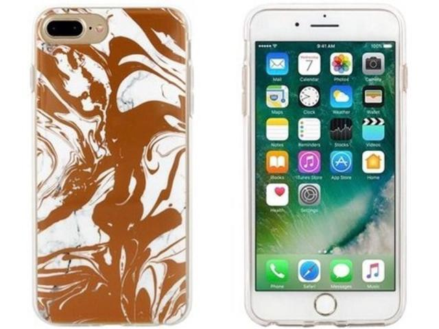Refurbished: End Scene 5031300094661 Case for iPhone 8 Plus/7 Plus/6s  Plus/6 Plus - Copper Marble Swirl - Newegg com
