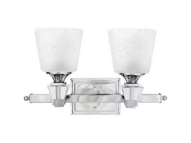 Quoizel 2 Light Deluxe Bath Fixture In Polished Chrome