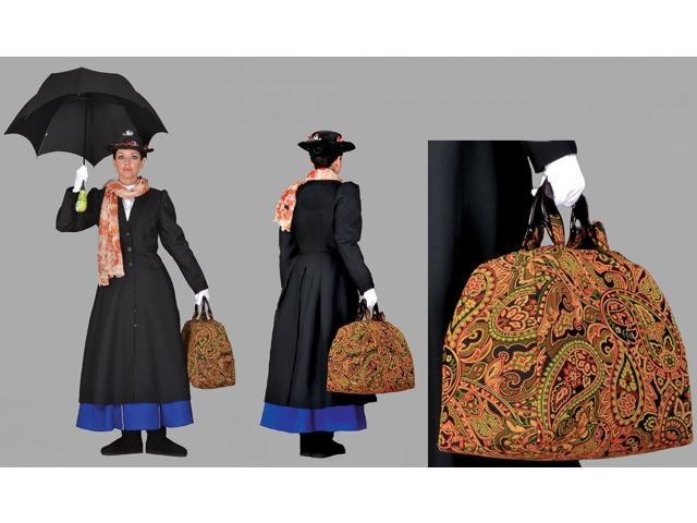 Deluxe Mary Poppins Steampunk Carpet Bag Theatrical Quality