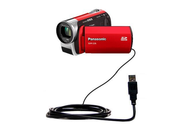 Built with Gomadic TipExchange Technology Charge and Data Sync with the same cable Hot Sync and Charge Straight USB cable for the Panasonic SDR-SW21 Video Camera