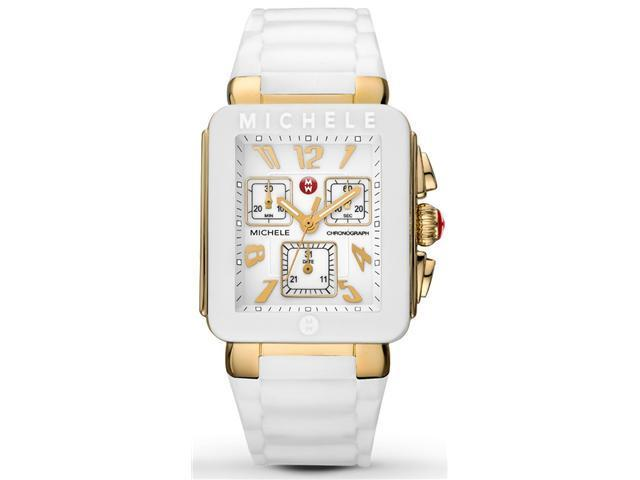 32890c20c Michele MWW06L000013 Park Jelly Bean White Silicone Women's Watch ...