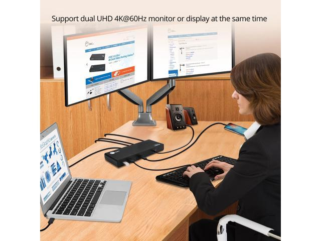 SIIG AC JU-DK0811-S1 USB3 1 Type-C Dual 4K Docking Station with Power  Delivery - Newegg com