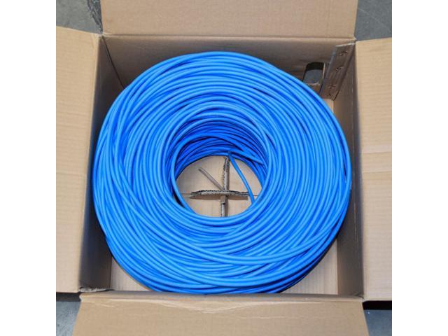 Bulk 1000ft Cat6 Plenum CMP 550 Mhz UTP Ethernet LAN Cable LSZH NEW Blue
