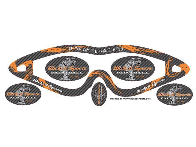 Wicked Sports Goggle Wrap - E-Flex, E-Vents, Vents - WS Carbon Fiber Orange  - Newegg com
