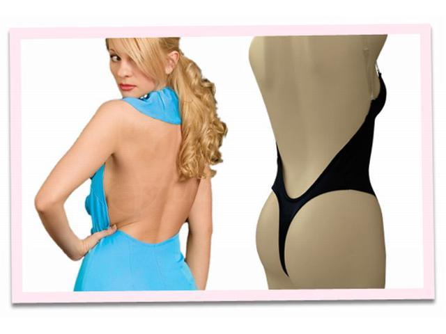 b32398c9d5 Fullness Thong Back Backless Body Shaper Push Up Padded Bra with Convertible  Straps