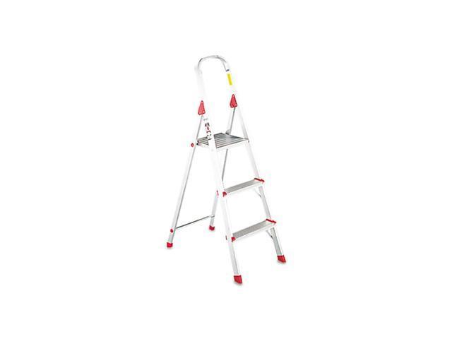 Louisville #566 Folding Aluminum Euro Platform Ladder 3-Step Red L234603 -  Newegg com
