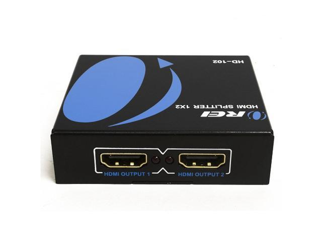 OREI HD-102 1x2 2 Ports HDMI Powered Splitter Ver 1 3 Certified for Full HD  1080P & 3D Support - Newegg com