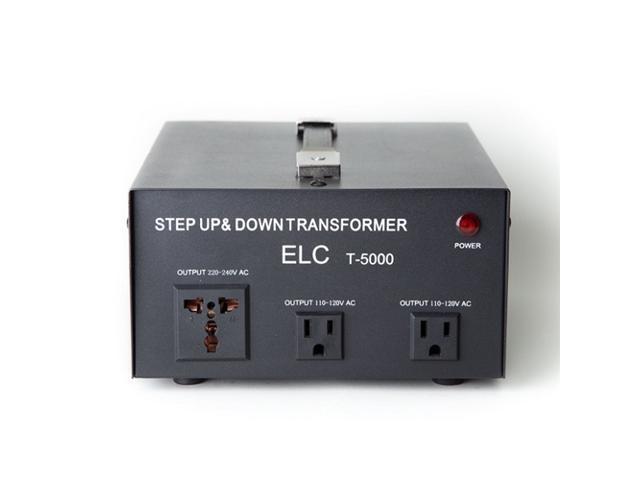 ELC T-5000 5000-Watt Voltage Converter Transformer w/ Circuit