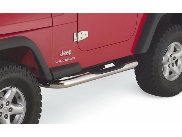 RAMPAGE R929425 Nerf Bars: 1987 2006 Jeep Wrangler; Side Step