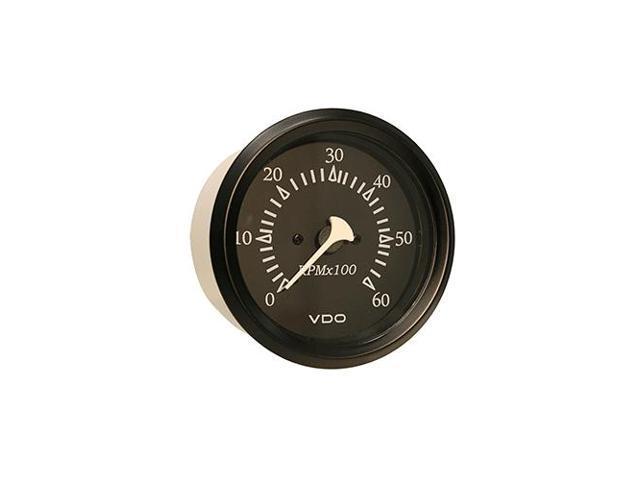 "12V Black Bezel VDO Allentare Black 6000RPM 3-3//8/"" Sterndrive Tachometer"