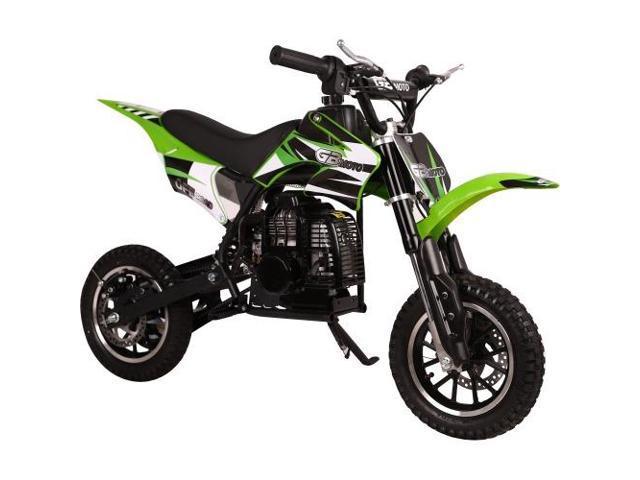 Worry Free Gadgets DIRT BIKE-GREEN NEW 49CC 2-STROKE GAS POWER - Newegg com