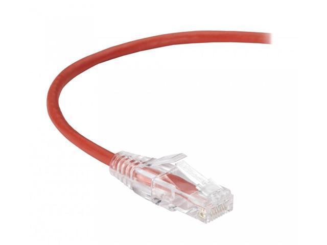 Black Box Corporation BLA#C6APC28RD01 SLIM-NET CAT6A PATCH CABLE RED 1FT -  Newegg com