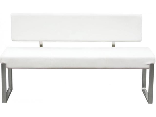 Benzara Bm190875 Faux Leather Upholstered Bench With Stainless
