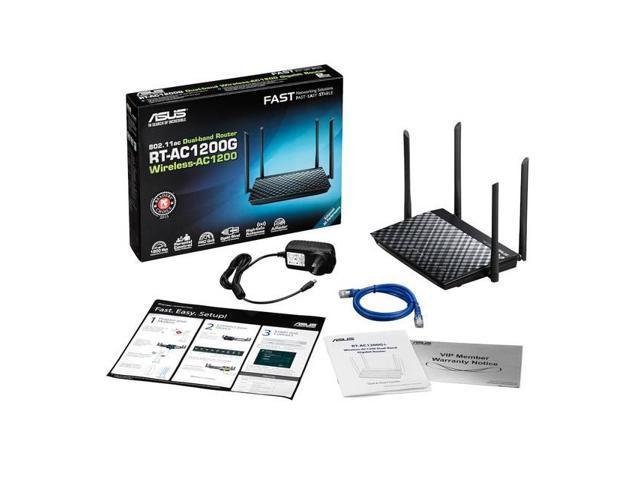 ASUS RT-AC1200G Asus RT-AC1200G AC1200 Dual-Band Wi-Fi Router w/ Four 5dBi  Antennas and Parental Controls - Newegg com