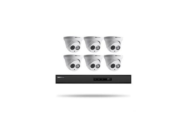 HIKVISION I7608N2TP Kit, Six 4MP Outdoor Turret Cameras with 2 8mm lens and  8ch NVR with PoE, 5MP recording, H 264+ compression 2TB HDD - Newegg com