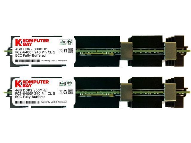 Komputerbay 8GB 2x 4GB DDR2 PC2 6400F 800MHz ECC Fully Buffered FB