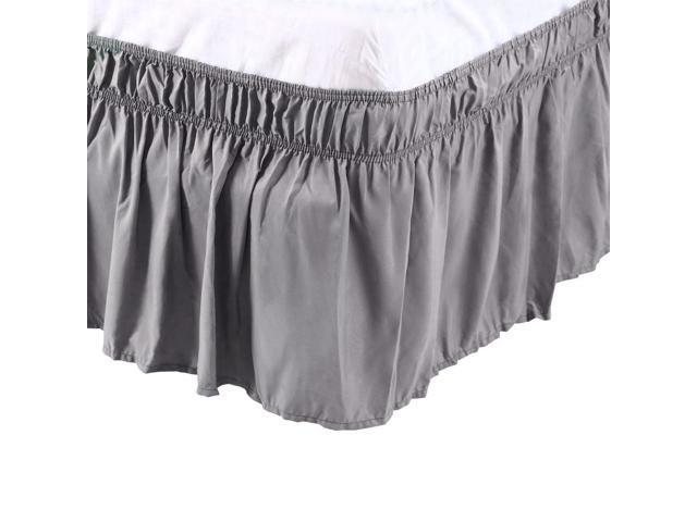 Piccocasa Detachable Bed Skirt Wrap, Queen Size Bed Skirt 15 Drop