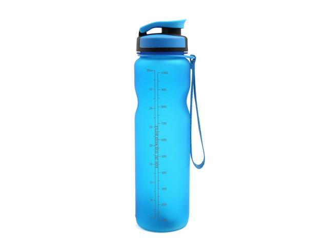 Blue Sports Drink Cup Traveling Water Bottle Healthy Plastic 36oz High Capacity