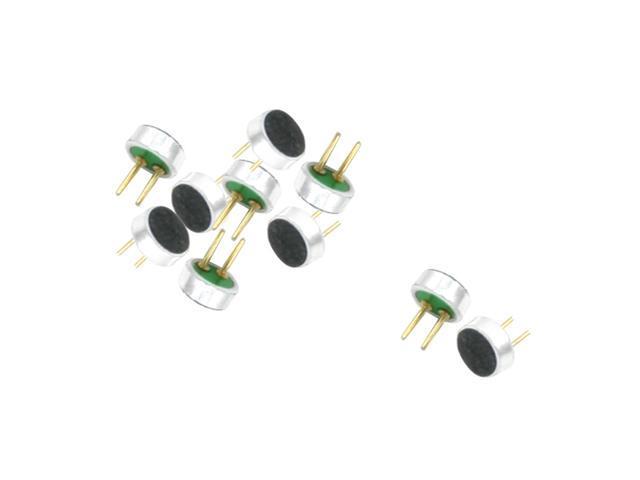 unique bargains 2 terminal mic capsule electret condenser microphone 4mm x 2mm 10 pieces