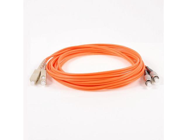 Unique Bargains Multi Mode FC to SC Fiber Optic Jumper Cable Orange 3 Meter  62 5/125 Micron - Newegg com