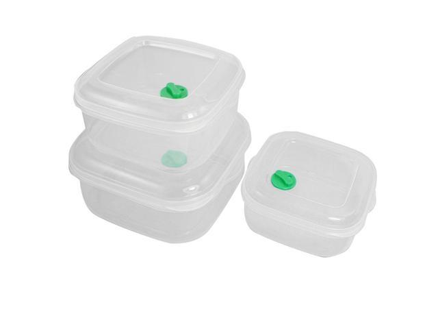 Global Bargains 3 Pcs Freezer Safe Plastic Food Storage Container Box 400ml  750ml 1200ml - Newegg com