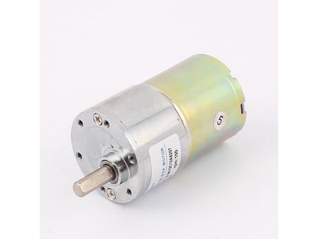 DC 12V 50mA 100RPM 0.9Kg-cm High Torque Permanent Magnetic DC Gear Motor