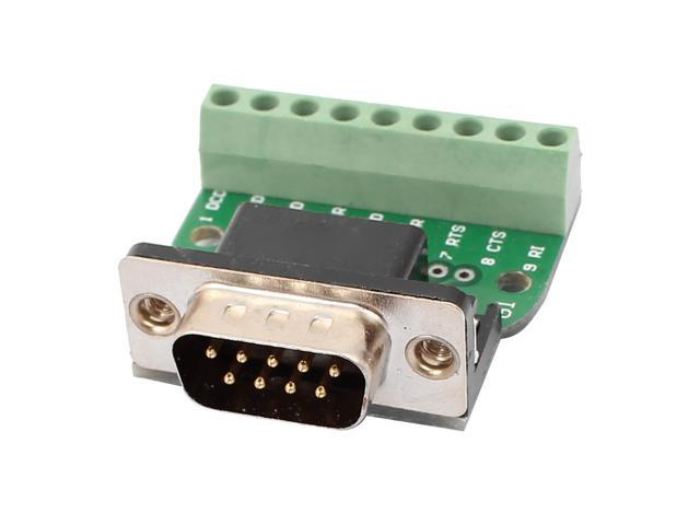 DB9 RS232 Serial Male Adapter Board 9 Positions Terminal Connector Signal  Module - Newegg ca