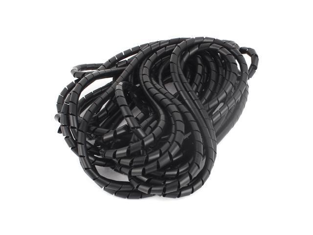 8mmx12M Flexible Polyethylene Spiral Wire Wrap Desktop PC Manage ...