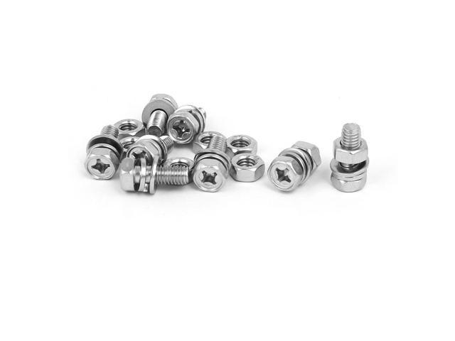 200pcs 304 M6 Stainless Steel Flat Flat washers Silver Tone Separator