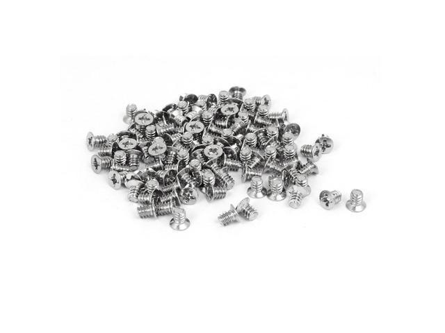 Yootop 100Pcs #6-32 Thread Phillips Flat Head Machine Screw 3.5mm PC Case Hard Drive Screws Full Thread Fastener