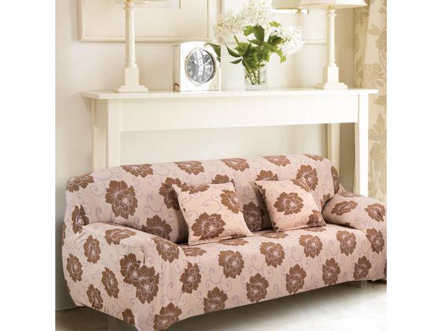 Home Polyester Flower Pattern Elastic Sofa Loveseat Cover Slipcover 55 74 Inch