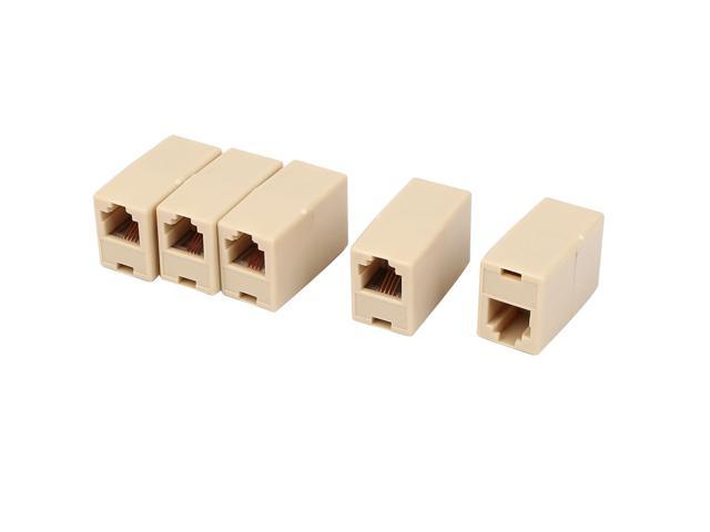5pcs RJ11 RJ12 6P6C Telephone Line Cable Cord Coupler Extender Connector Joiner