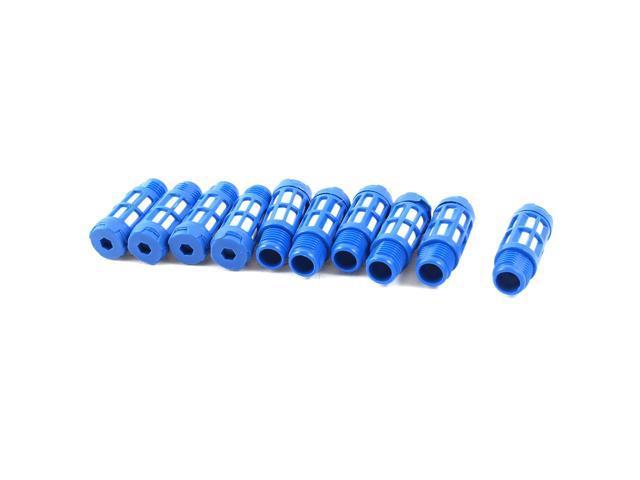 unique bargains pcs pt plastic pneumatic valve exhaust noise reducing silencer muffler blue