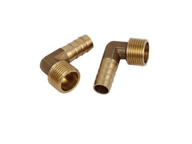 3//8BSP Male Thread 8mm Dia Brass Hose Barb Fittings Couplers Connectors 8pcs