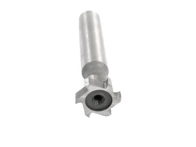 Hardware Milling Cutter 10mm Depth 16mm Cutting Dia 6 Flutes HSS T Slot End Mill