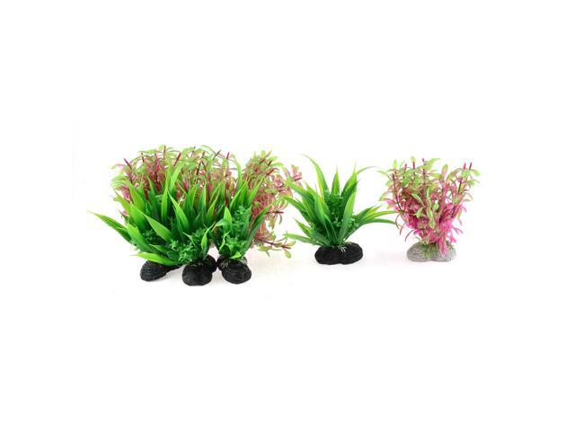 Artificial Plastic Plants Aquarium Decor Ceramic Base Water Grass for Fish Tank Decoration Ornament Aquascape by TheBigThumb