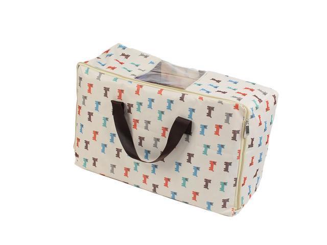 Home Dog Pattern Fabric Zippered Bedding Storage Bag Beige 52 X 33 18cm Newegg