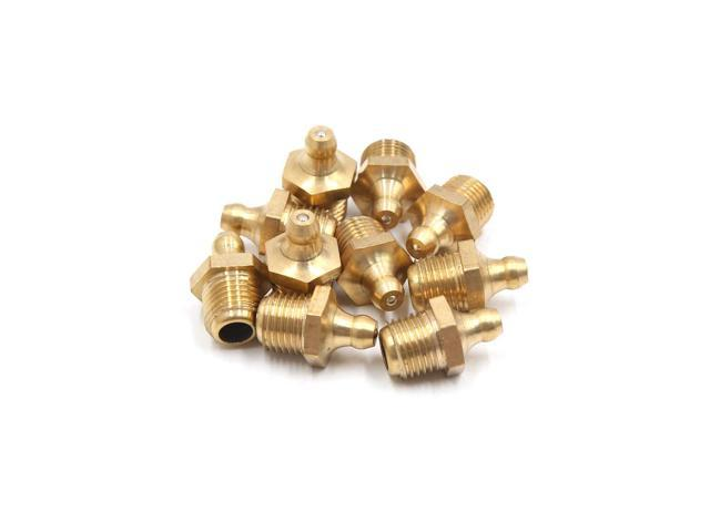 20Pcs M14 x 1.5 Thread Brass Straight Grease Zerk Nipple Fitting for Car Vehicle