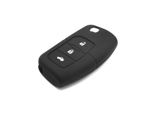 Black Silicone 3 Button Remote Key Cover Holder Case Shell For Ford