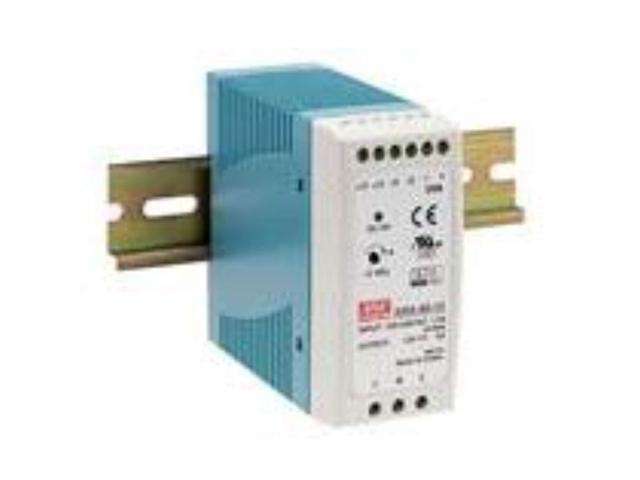 Input Output Mean Well DRA-60-12 DIN Rail Single Output Switching Power Supplies 60W 12V 5A V and Current Adj 90~264VAC 127~370VDC.
