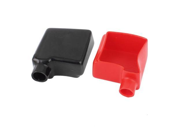 2pcs Auto Car Battery Terminal Cover Insulation Boot Black