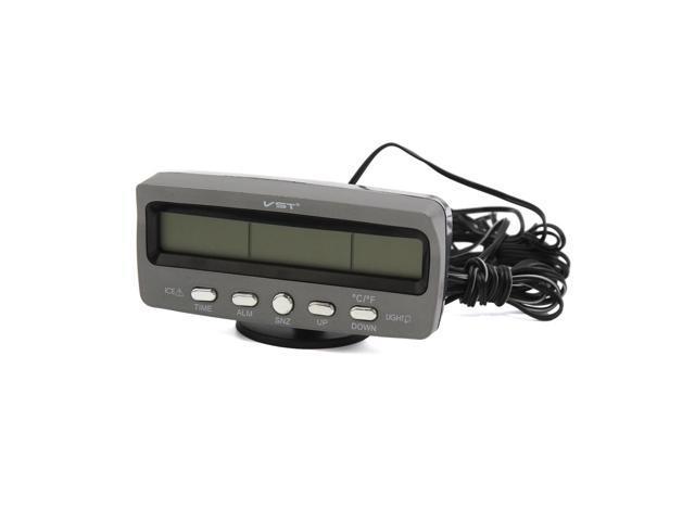 Gray Plastic Digital Electronic Time Clock Calendar Display for Car  Dashboard - Newegg com