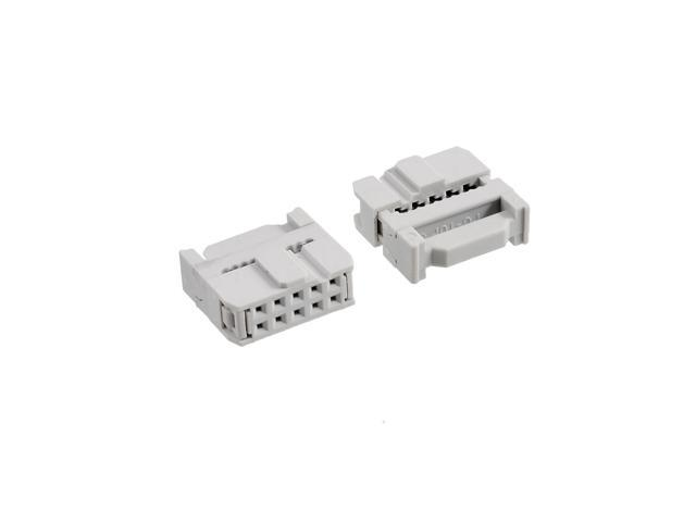 10PCS FC-20P 2x10Pin Dual Row Pitch 2.54mm IDC Socket Connector Female Header 20-pin cable socket